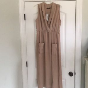 NEW WITH TAGS boohoo midi trench dress